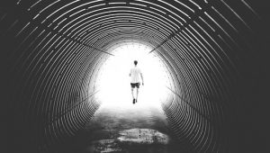 Image - pexel free - tunnel with man
